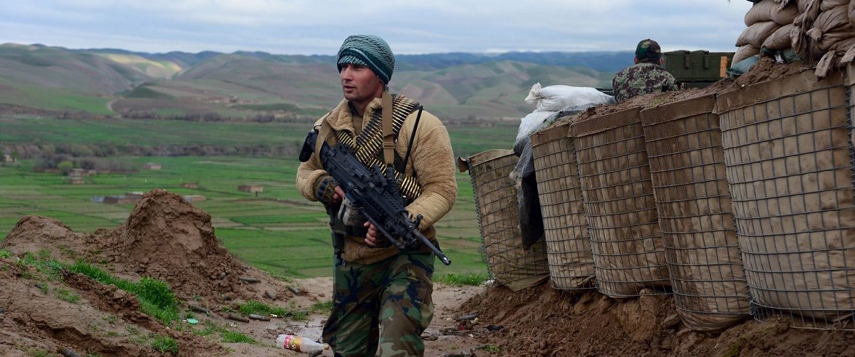 The operation started after Taliban insurgents captured an Afghan policestation in the village of Darwish Mohammadi, some 10 kms away from the district centre. Hoshang Hashimi/AFP/Getty Images.