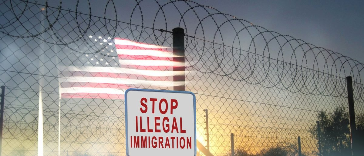 Stop illegal immigration sign (Shutterstock/TheaDesign)