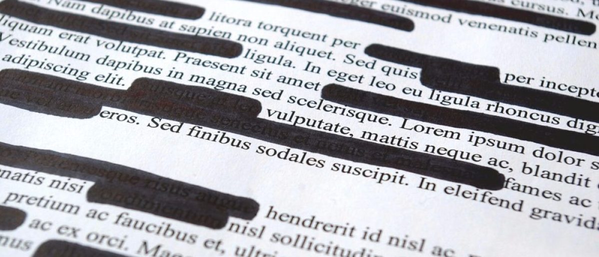 Court document with redactions. [Shutterstock - Studio_Loona]