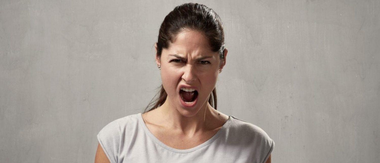 Angry woman (Shutterstock/kurhan)