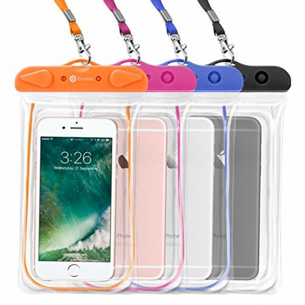 Normally $29, this 4-pack of waterproof cases is 59 percent off with this code (Photo via Amazon)