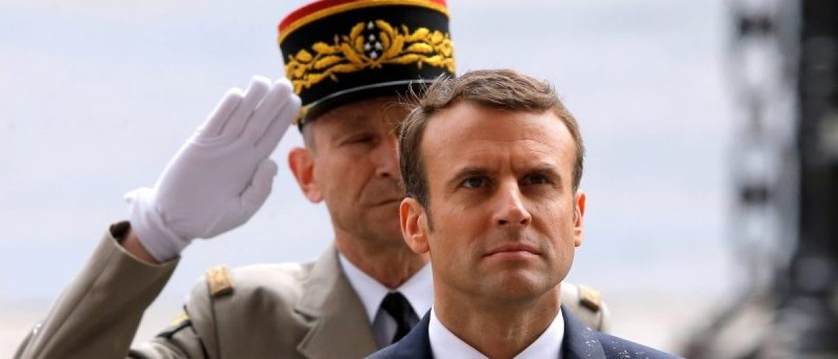 French President Emmanuel Macron attends a ceremony at the Tomb of the Unknown soldier at the Arc de Triomphe in Paris, France, May 14, 2017. REUTERS/Michel Euler/Pool