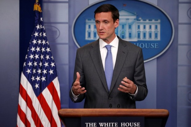 """White House Homeland Security Advisor Tom Bossert speaks to reporters about the global WannaCry """"ransomware"""" cyber attack, prior to the daily briefing at the White House in Washington, U.S. May 15, 2017. REUTERS/Jonathan Ernst"""