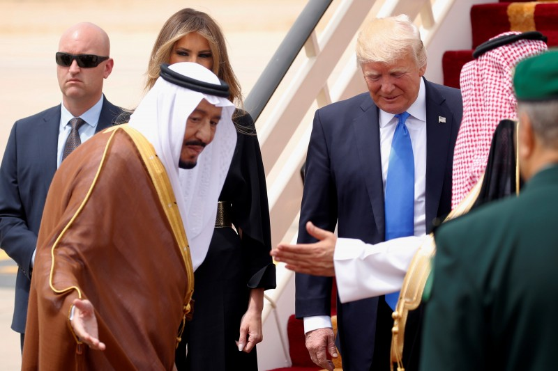 Saudi king to Trump: Confident you can progress toward Israeli-Palestinian peace