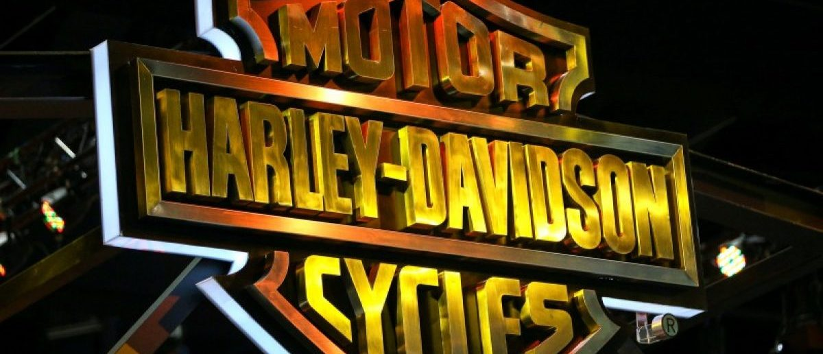The logo of Harley-Davidson. REUTERS/Athit Perawongmetha