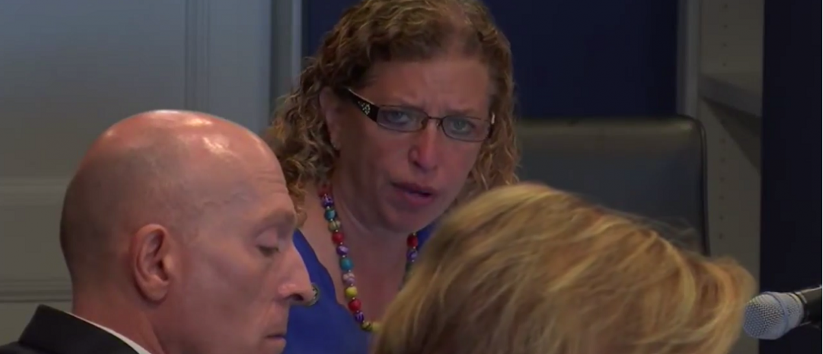Rep. Debbie Wasserman Schultz admits to violating network policies at May 17 hearing.