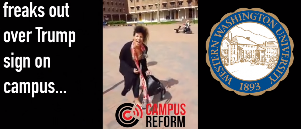 A student screaming (Photo Credit: YouTube/CampusReform)