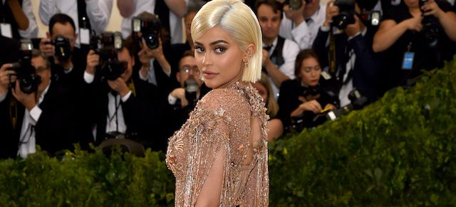 """NEW YORK, NY - MAY 01: Kylie Jenner attends the """"Rei Kawakubo/Comme des Garcons: Art Of The In-Between"""" Costume Institute Gala at Metropolitan Museum of Art on May 1, 2017 in New York City. (Photo by Dimitrios Kambouris/Getty Images)"""