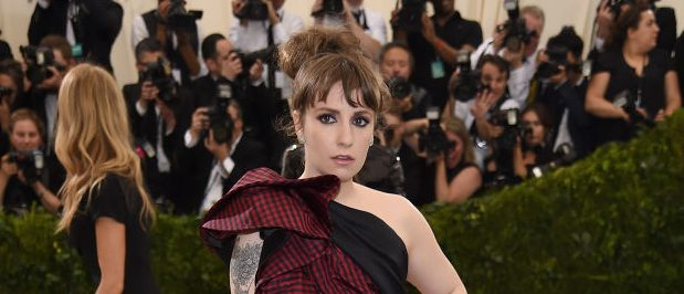 "Lena Dunham attends the ""Rei Kawakubo/Comme des Garcons: Art Of The In-Between"" Costume Institute Gala at Metropolitan Museum of Art on May 1, 2017 in New York City. (Photo by Dimitrios Kambouris/Getty Images)"