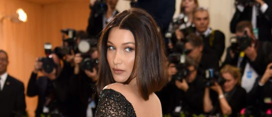"Bella Hadid attends the ""Rei Kawakubo/Comme des Garcons: Art Of The In-Between"" Costume Institute Gala at Metropolitan Museum of Art on May 1, 2017 in New York City. (Photo by Dimitrios Kambouris/Getty Images)"