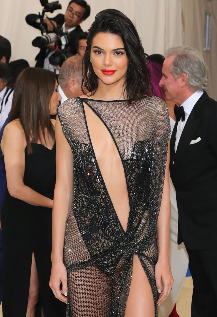 Kendall Jenner's dress caught everyone's attention at the event. (Photo credit: Getty Images)
