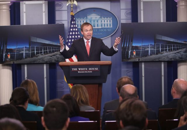 USA govt shutdown possible if Democrats don't act better -Mulvaney