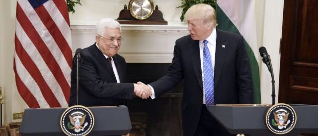 President Trump Welcomes Palestinian President Abbas To White House. (Photo: Olivier Douliery-Pool/Getty Images)