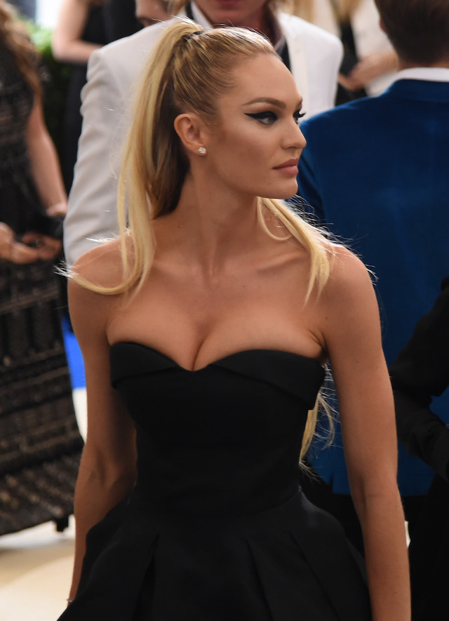 """NEW YORK, NY - MAY 01: Candice Swanepoel attends the """"Rei Kawakubo/Comme des Garcons: Art Of The In-Between"""" Costume Institute Gala at Metropolitan Museum of Art on May 1, 2017 in New York City. (Photo by Nicholas Hunt/Getty Images for Huffington Post)"""