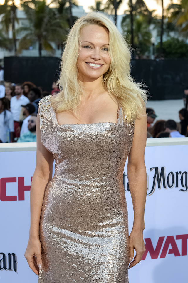 """MIAMI, FL - MAY 13: Pamela Anderson attends Paramount Pictures' World Premiere of """"Baywatch"""" on May 13, 2017 in Miami, Florida. (Photo by Jason Koerner/Getty Images)"""