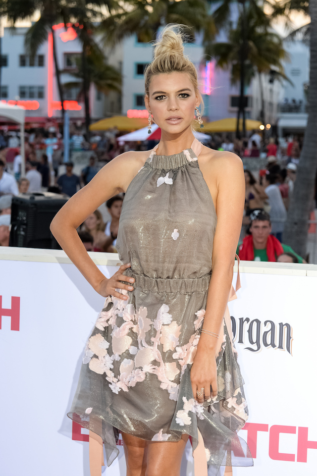 """MIAMI, FL - MAY 13: Kelly Rohrbach attends Paramount Pictures' World Premiere of """"Baywatch"""" on May 13, 2017 in Miami, Florida. (Photo by Jason Koerner/Getty Images)"""