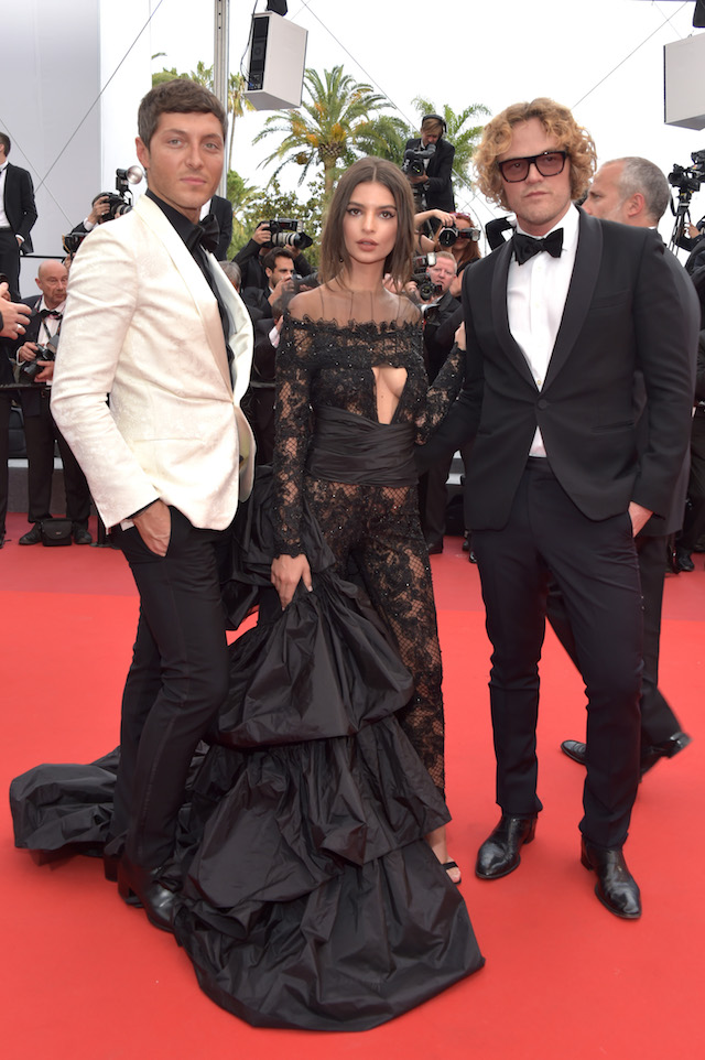 "CANNES, FRANCE - MAY 18: Designer Peter Dundas (L) and Model Emily Ratajkowski attend the ""Loveless (Nelyubov)"" screening during the 70th annual Cannes Film Festival at Palais des Festivals on May 18, 2017 in Cannes, France. (Photo by Pascal Le Segretain/Getty Images)"