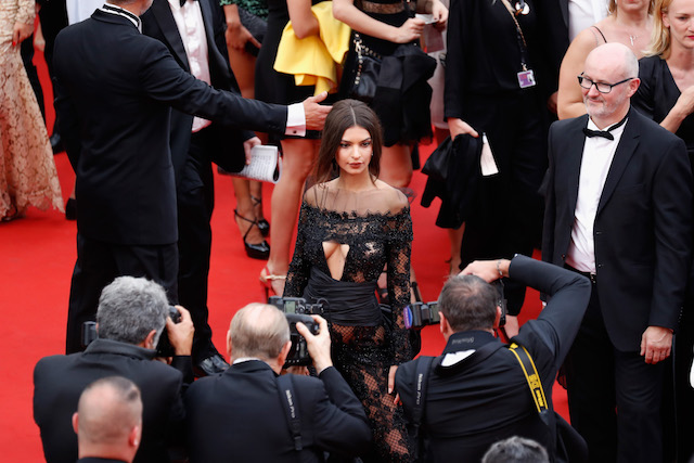 "CANNES, FRANCE - MAY 18: Model Emily Ratajkowski attend the ""Loveless (Nelyubov)"" screening during the 70th annual Cannes Film Festival at Palais des Festivals on May 18, 2017 in Cannes, France. (Photo by Tristan Fewings/Getty Images)"