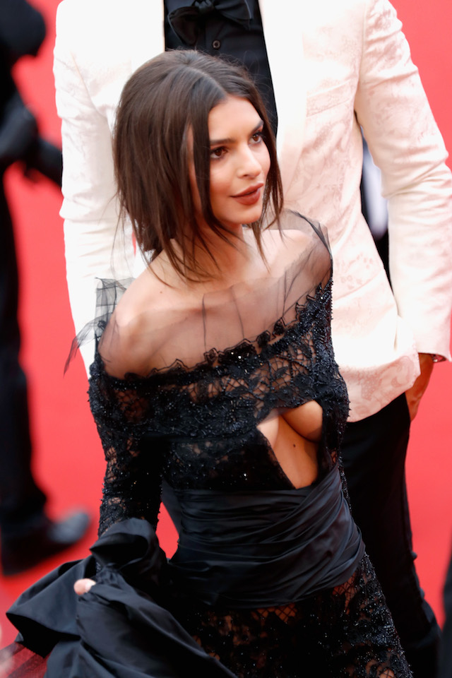 "CANNES, FRANCE - MAY 18: Emily Ratajkowski attends the ""Loveless (Nelyubov)"" screening during the 70th annual Cannes Film Festival at Palais des Festivals on May 18, 2017 in Cannes, France. (Photo by Tristan Fewings/Getty Images)"