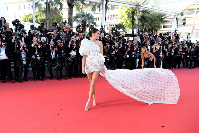 """CANNES, FRANCE - MAY 20: Model Kendall Jenner attends the """"120 Beats Per Minute (120 Battements Par Minute)"""" screening during the 70th annual Cannes Film Festival at Palais des Festivals on May 20, 2017 in Cannes, France. (Photo by Neilson Barnard/Getty Images)"""