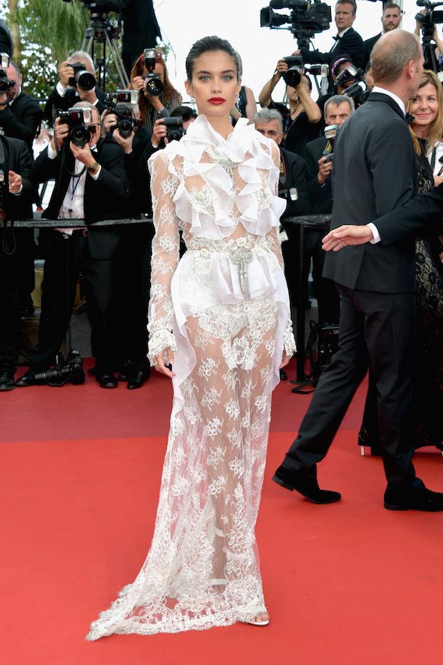 "CANNES, FRANCE - MAY 22: Sara Sampaio attends the ""The Killing Of A Sacred Deer"" screening during the 70th annual Cannes Film Festival at Palais des Festivals on May 22, 2017 in Cannes, France. (Photo by Pascal Le Segretain/Getty Images)"