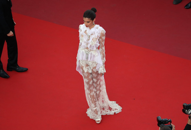 "CANNES, FRANCE - MAY 22: Model Sara Sampaio attends the ""The Killing Of A Sacred Deer"" screening during the 70th annual Cannes Film Festival at Palais des Festivals on May 22, 2017 in Cannes, France. (Photo by Neilson Barnard/Getty Images)"