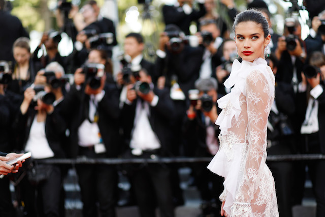 "CANNES, FRANCE - MAY 22: Sara Sampaio attends the ""The Killing Of A Sacred Deer"" screening during the 70th annual Cannes Film Festival at Palais des Festivals on May 22, 2017 in Cannes, France. (Photo by Tristan Fewings/Getty Images)"