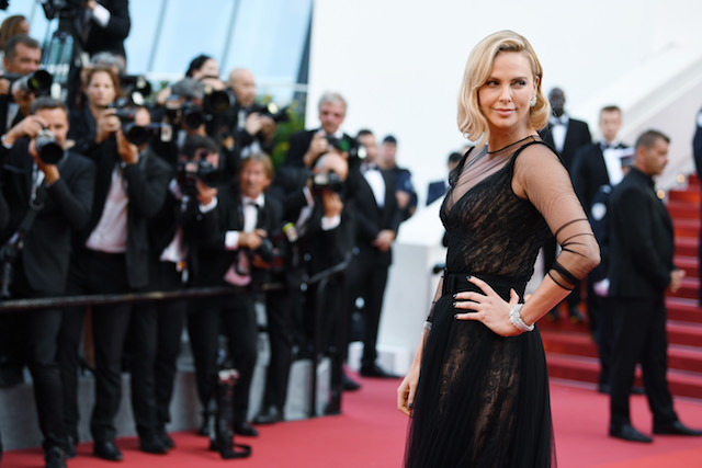 CANNES, FRANCE - MAY 23: Charlize Theron attends the 70th Anniversary of the 70th annual Cannes Film Festival at Palais des Festivals on May 23, 2017 in Cannes, France. (Photo by Pascal Le Segretain/Getty Images)