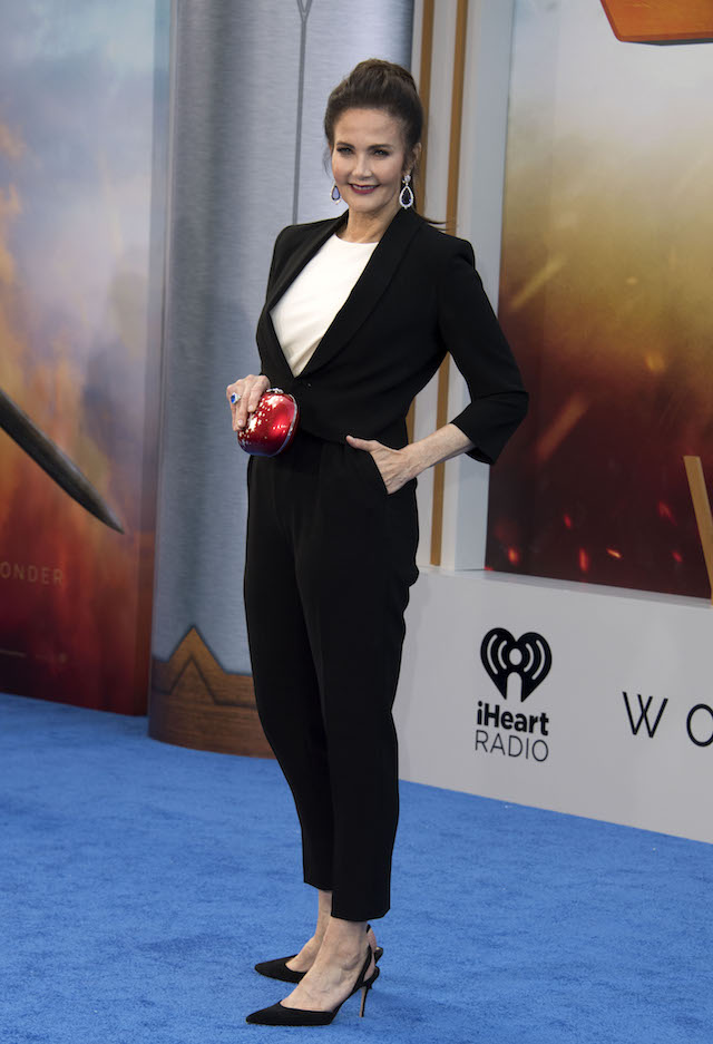 """Actress Lynda Carter attends the world premiere of """"Wonder Woman"""" at the Pantages on May 25, 2017 in Hollywood, California. / AFP PHOTO / VALERIE MACON (Photo credit should read VALERIE MACON/AFP/Getty Images)"""
