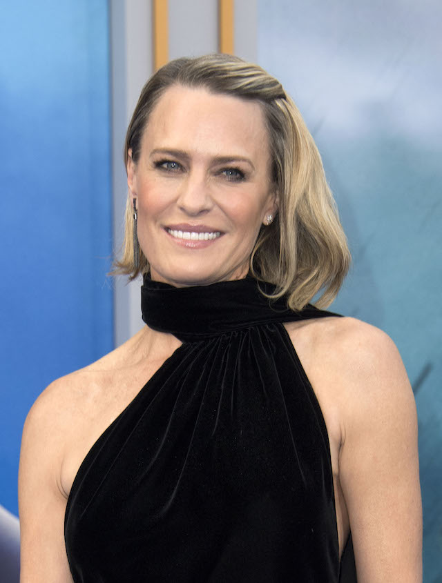 """Actress Robin Wright attends the world premiere of """"Wonder Woman"""" at the Pantages on May 25, 2017 in Hollywood, California. / AFP PHOTO / VALERIE MACON (Photo credit should read VALERIE MACON/AFP/Getty Images)"""