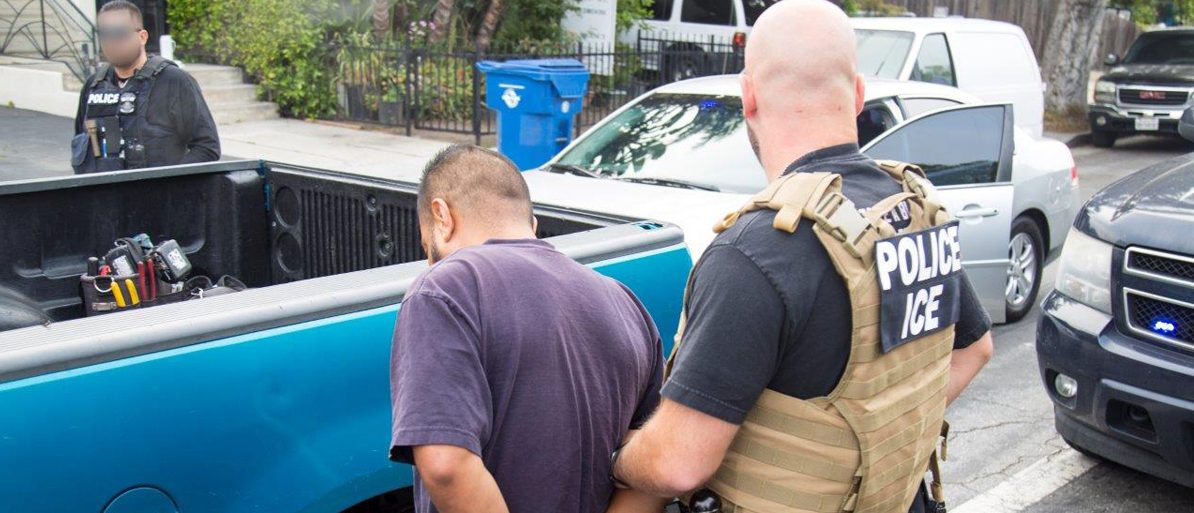 ICE arrests nearly 200 in Los Angeles-area operation targeting criminal aliens, illegal re-entrants, and immigration fugitives. (PHOTO: Immigration and Customs Enforcement/Public Domain)