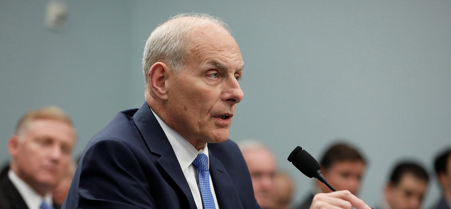 Homeland Security Secretary John Kelly testifies before a Homeland Security Subcommittee hearing on Capitol Hill in Washington, D.C., U.S. May 24, 2017. (PHOTO: REUTERS/Aaron P. Bernstein)