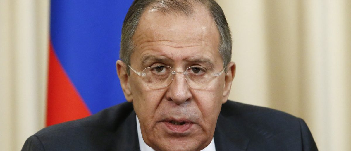 Russian Foreign Minister Sergei Lavrov attends a news conference after a meeting with his counterpart from Saudi Arabia Adel al-Jubeir in Moscow, Russia, April 26, 2017. REUTERS/Sergei Karpukhin - RTS13YZX