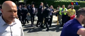 IDENTIFIED: Meet The Erdogan Goon Who Brutally Kicked A Female Protester At Turkish Embassy [VIDEO]
