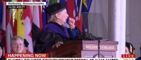 Hillary Gets Choked Up At Wellesley Commencement — Blames Allergies [VIDEO]