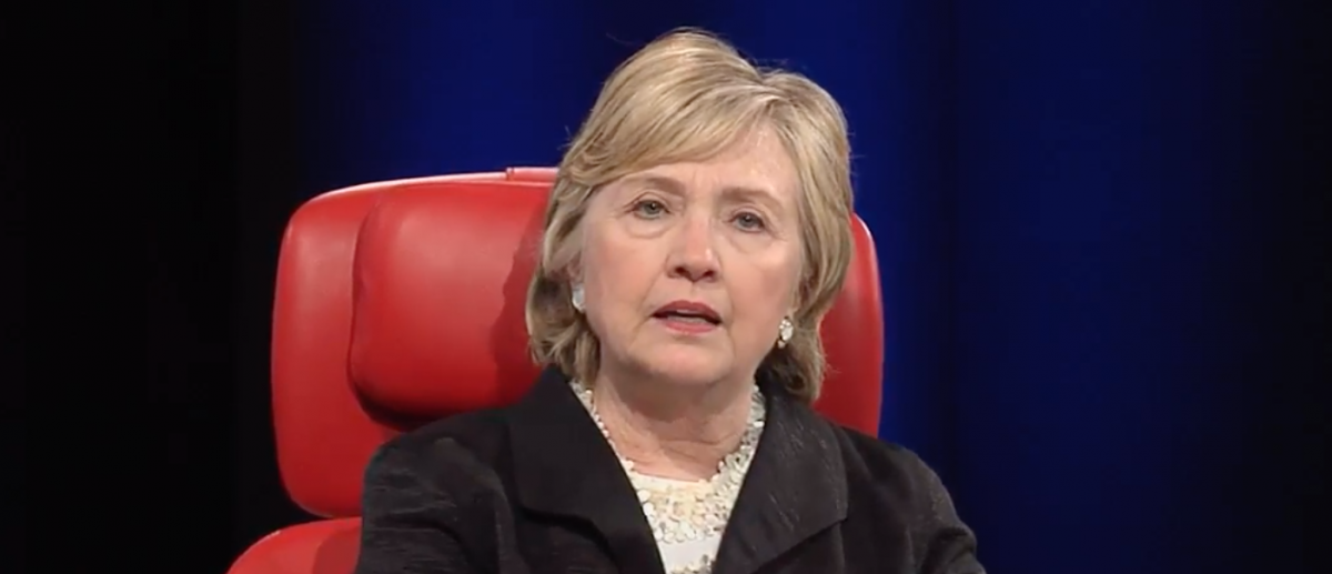 Hillary Clinton speaks at Recode conference (Youtube screen grab)