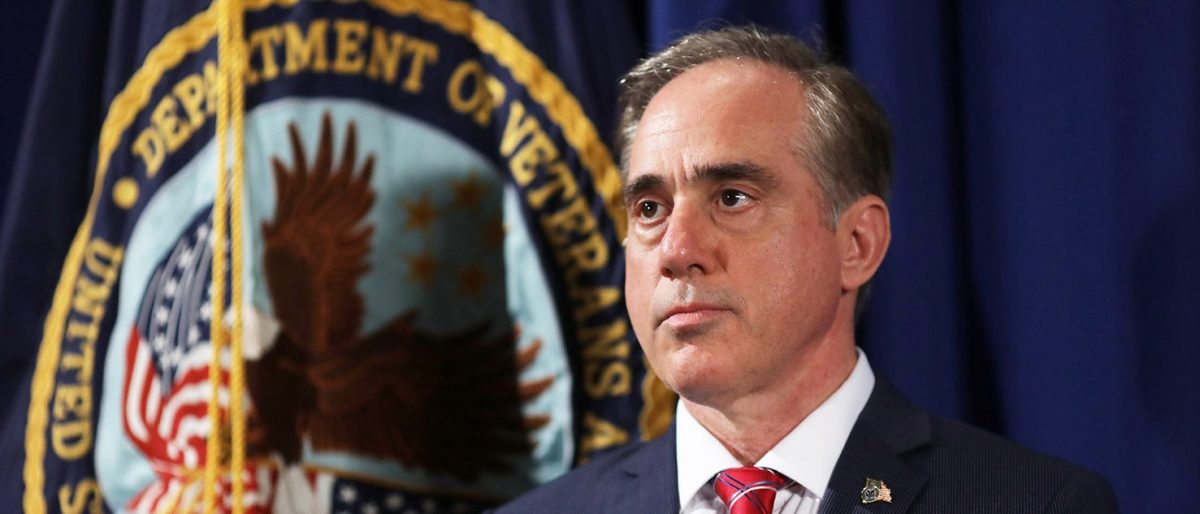 Veterans Affairs Secretary David Shulkin looks on prior to U.S. President Trump signing an Executive Order on improving accountability and whistleblower protection, at the Veterans Affairs Department in Washington, U.S., April 27, 2017. (PHOTO: REUTERS/Carlos Barria)