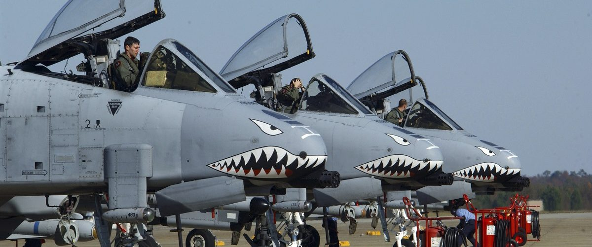 U.S. Air Force A-10 Thunderbolt II aircraft are serviced on the flight line at Shaw Air Force Base, South Carolina in this handout photograph taken on December 2, 2005 and obtained on May 20, 2014. A U.S. Congressional panel has rejected the military's proposal to retire the entire fleet of A-10 close-air support planes, as the annual defense policy bill continues to make its way through the House of Representatives. The White House said retiring the planes would save $4.2 billion through 2019. Picture taken December 2, 2005. REUTERS/Tech. Sgt. James Arrowood/U.S. Air Force/Handout via Reuters.