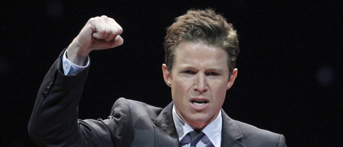 Television personality Billy Bush hosts the CinemaCon Big Screen Achievement Awards show at Caesars Palace in Las Vegas, Nevada, April 26, 2012. REUTERS/Steve Marcus/File Photo - RTX2P8R3