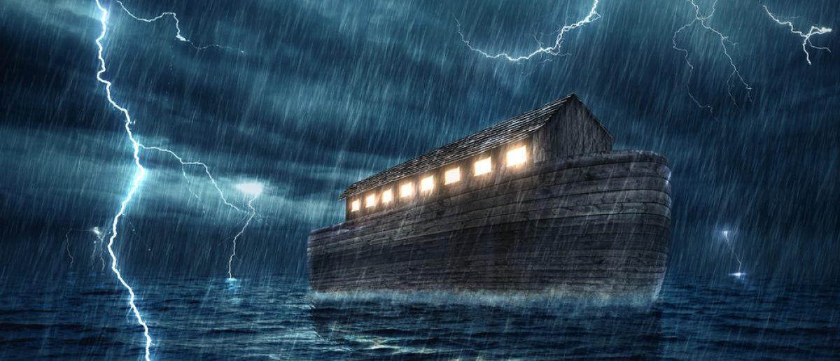 Noah's ark during a rain and lightning storm. (Credit: Amanda Carden/Shutterstock)