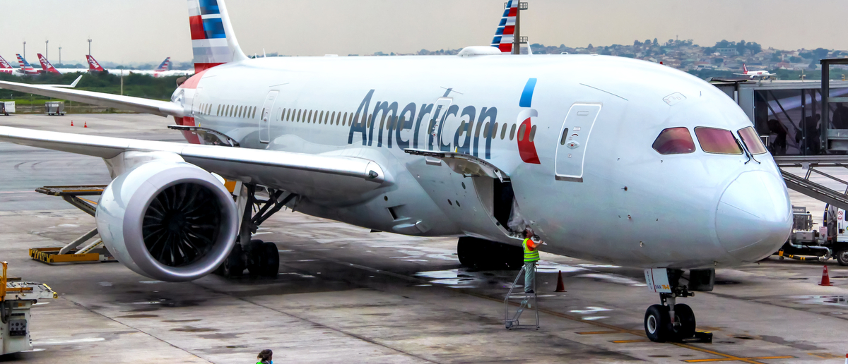 American Airlines plane on the runway (Photo: Shutterstock/ Art Konovalov)
