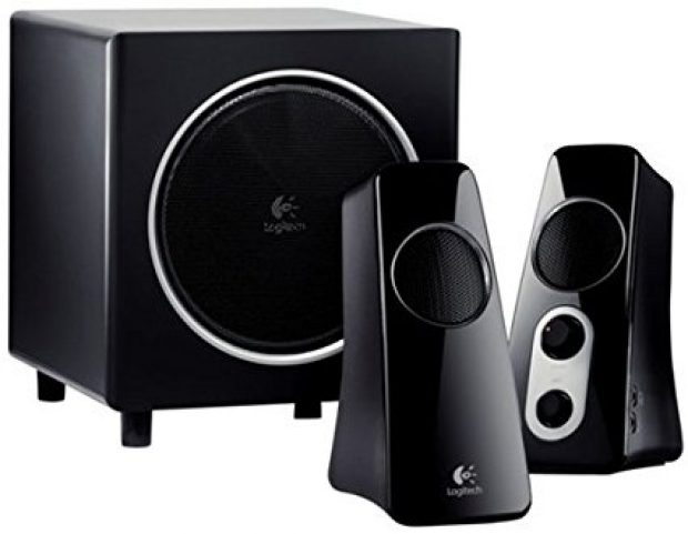 Normally $100, this speaker system with subwoofer is 50 percent off today (Photo via Amazon)