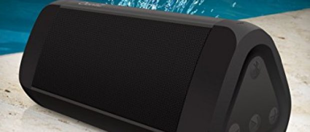 Water resistant, this speaker is perfect for beach, poolside or shower (Photo via Amazon)