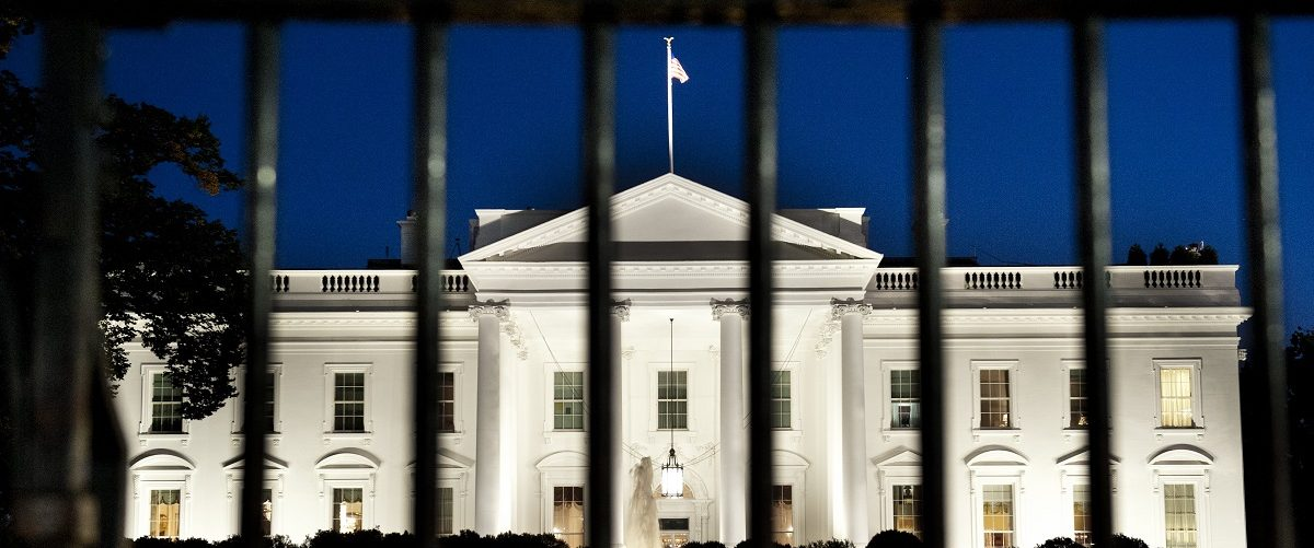 The White House is seen at dusk on the eve of a possible government shutdown as Congress battles out the budget in Washington, DC, September 30, 2013. Saul Loeb/AFP/Getty Images.