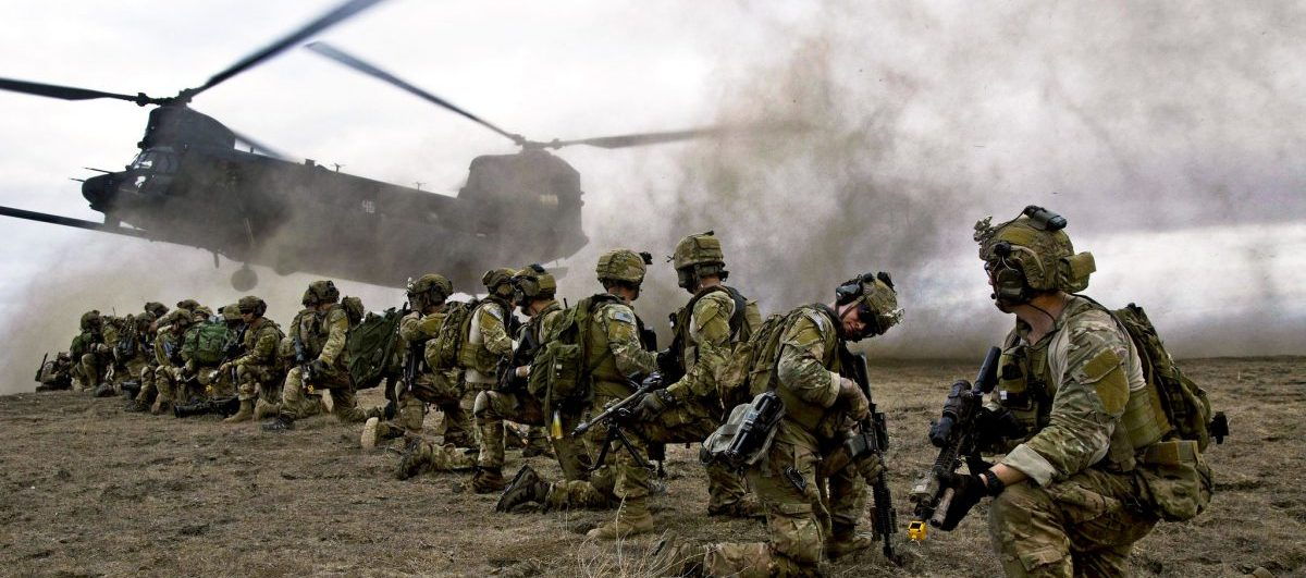 U.S. Army Rangers, assigned to 2nd Battalion 75th Ranger Regiment, prepare for extraction from their objective during Task Force Training on Fort Hunter Liggett, Calif., Jan. 30, 2014. Rangers constantly train to maintain their tactical proficiency.