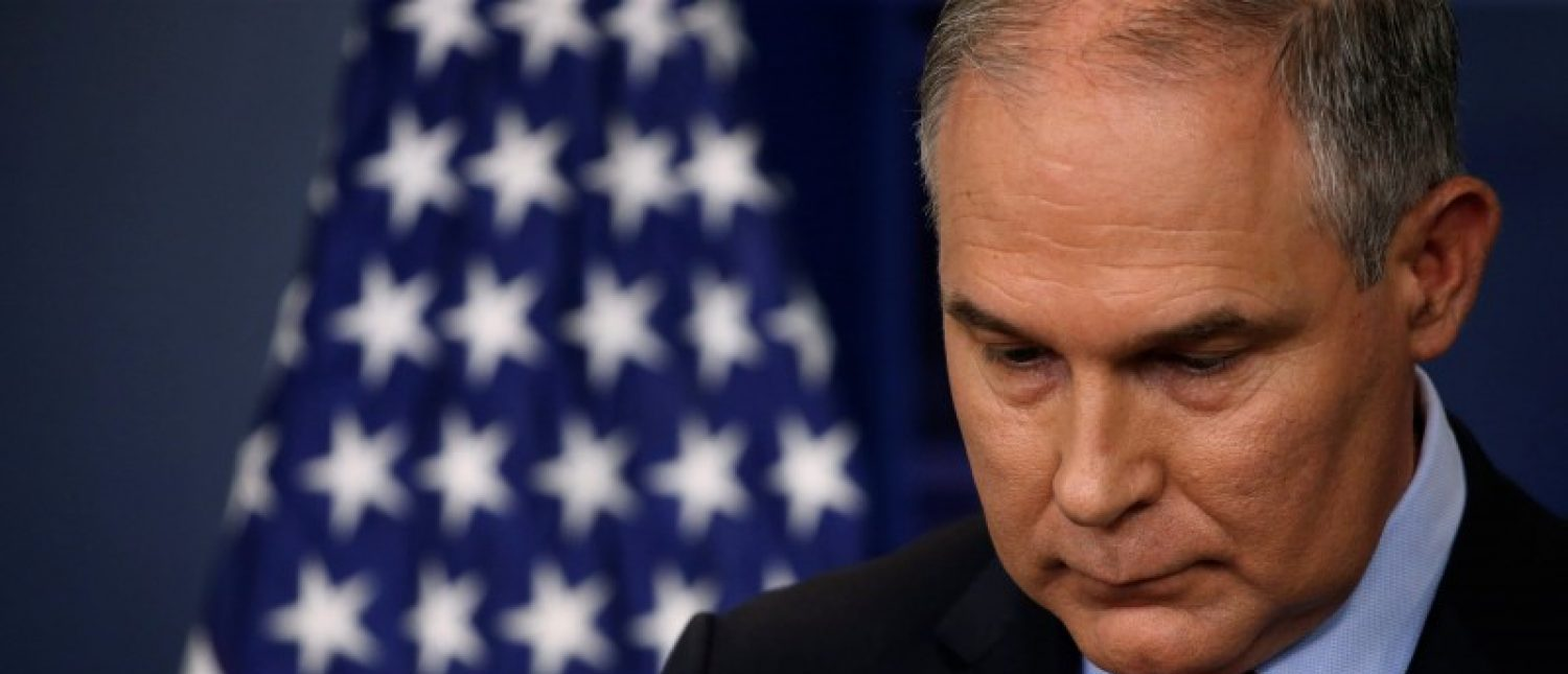 REFILE - UPDATING SLUGEnvironmental Protection Agency (EPA) Administrator Scott Pruitt takes questions about the Trump administration's withdrawal of the U.S. from the Paris climate accords during the daily briefing at the White House in Washington, U.S. June 2, 2017.