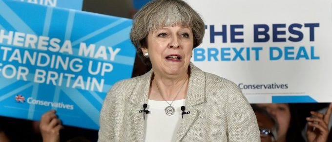 Britain's Prime Minister Theresa May speaks at an election campaign event at Thornhill Cricket and Bowling Club in Dewsbury, West Yorkshire, Britain, June 3, 2017. REUTERS/Hannah McKay