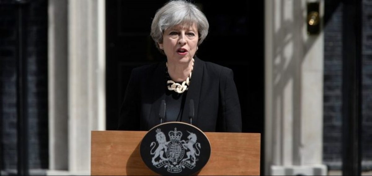 Britain's Prime Minister Theresa May speaks outside 10 Downing Street after an attack on London Bridge and Borough Market left 7 people dead and dozens injured in London, Britain, June 4, 2017. REUTERS/Hannah McKay