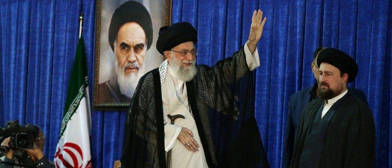 Iran's Supreme Leader Ayatollah Ali Khamenei waves during a ceremony marking the death anniversary of the founder of the Islamic Republic Ayatollah Ruhollah Khomeini, in Tehran, Iran, June 4, 2017. Leader.ir/Handout via REUTERS