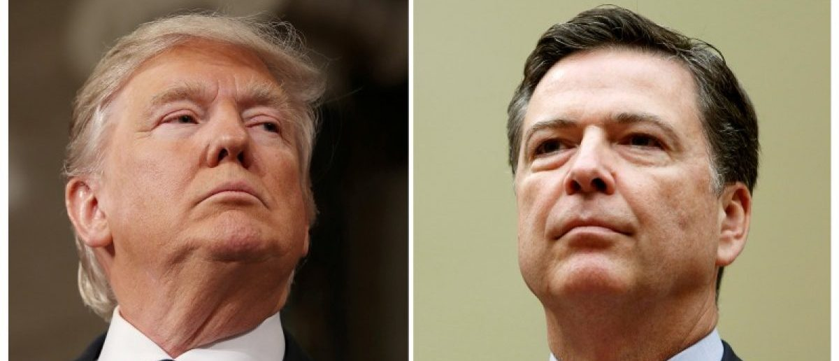FILE PHOTO: A combination photo shows U.S. President Donald Trump and and FBI Director James Comey in Washington